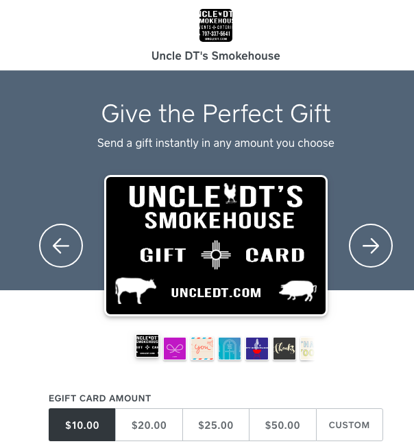 eGift Cards are here!